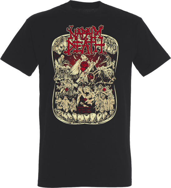 T-Shirt Napalm Death Throes of Joy black