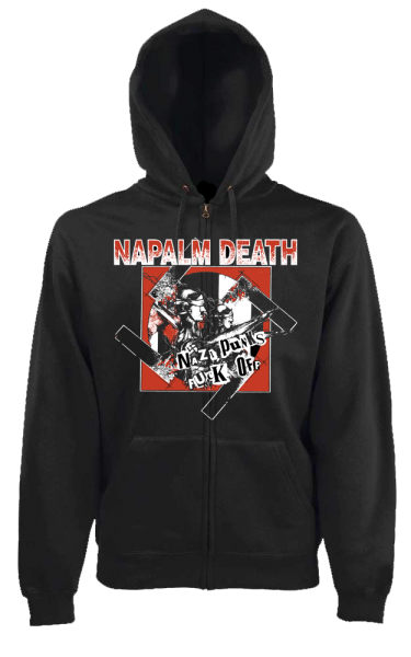 Hooded Zip nazi punks fuck off black